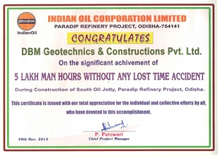 Appreciation certificate from IOCL, SOJ Project, paradip.jpg